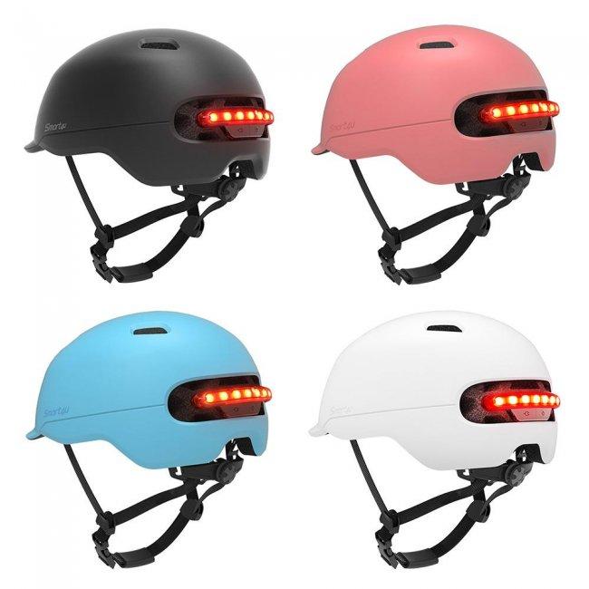 Цена на Xiaomi Smart4u Waterproof Bicycle Smart Flash Helmet каска