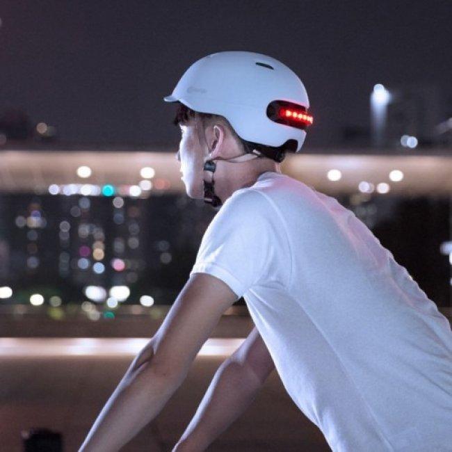 Xiaomi Smart4u Waterproof Bicycle Smart Flash Helmet каска Снимка
