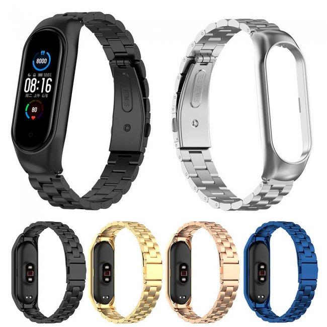 Аксесоари за спортни гривни и часовници Xiaomi Stainless Steel Clasp Wristband For Мi Band 5/6 метална каишка