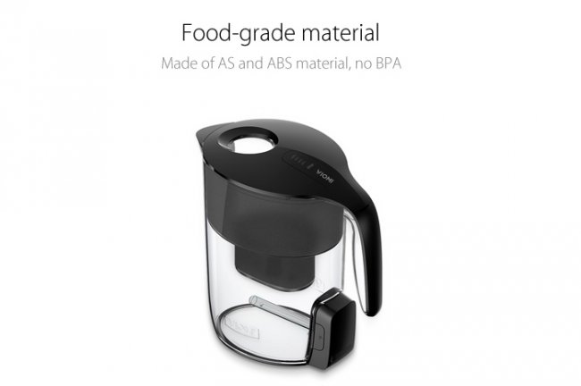 Xiaomi VIOMI MH1Z-A 3.5L Black Glass Cordless Electric Filter Kettle  - кана